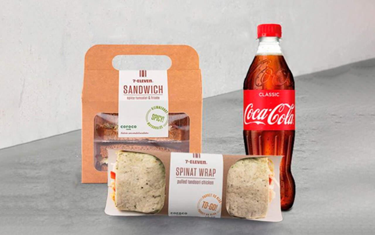 Cofoco Sandwich eller Wrap + 50 cl. Sodavand hos 7-Eleven