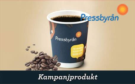 Kaffe på Pressbyrån